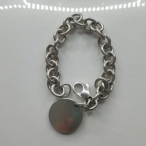 Tiffany & Co. Jewelry - Tiffany&co Sterling silver round tag bracelet